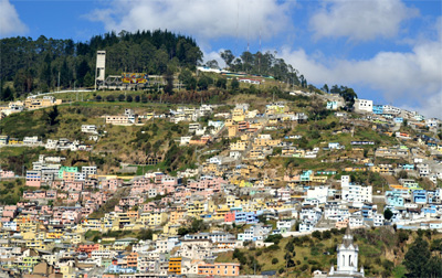 The city of Quito, Ecuador. photos by Barbara Sloane.