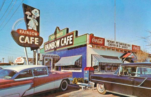 Art Tuckers Rainbow Cafe postcard pg 108