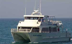 Island Packer's catamaran, the way to get to Santa Cruz Island.