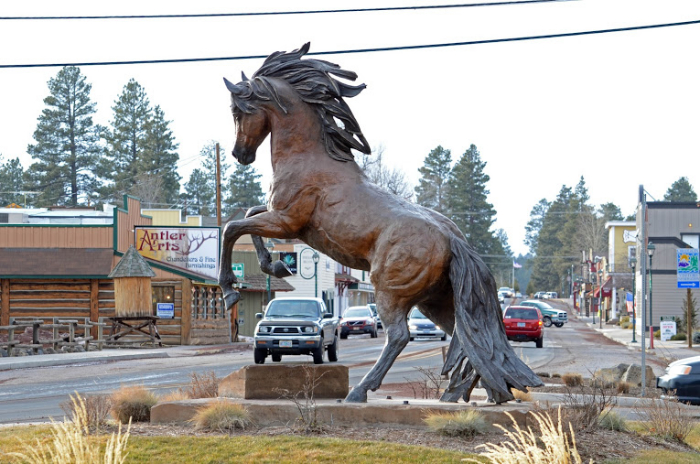 Statue in Sisters, Oregon.
