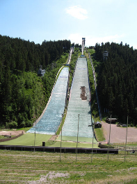Oberhof summer ski jump.