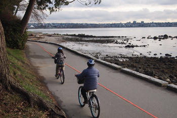 Biking in Stanley Park, Vancouver. photos by Max Hartshorne.