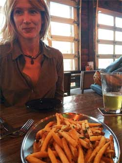 Truffled fries at Social Tap, in Pierpont, Ventura California.
