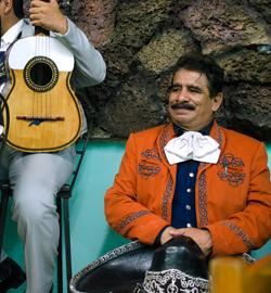 Mariachis in Santana's bar. Lydia Carey photos.