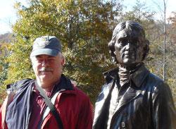 Steve Hartshorne at Monticello.