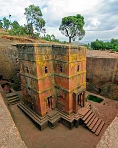 The Church of Bet Giyorgis in Lalibela, Ethiopia