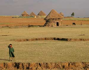 The Ethiopian countryside