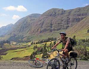 Setting out on a 450 mile bike trip through Ethiopia
