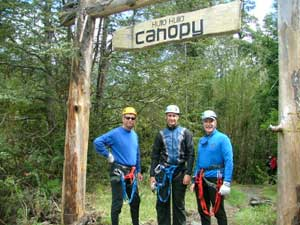 Getting set for the canopy tour