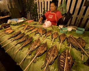 Grilled fish in Louang Phabang