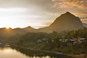 Sunset in Nong Khiaw
