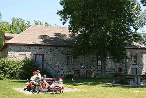 The historic warehouse of the early fur traders