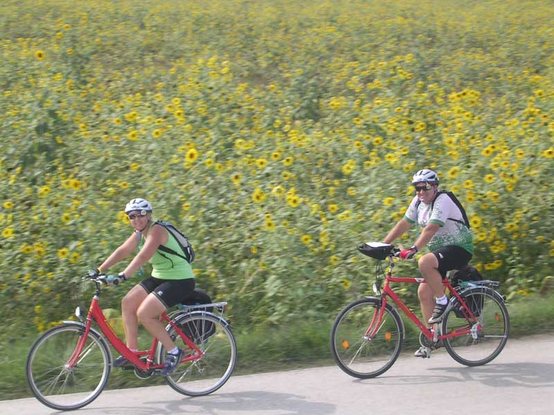 Biking in Tuscany - photo courtesy of Bike Tours Direct