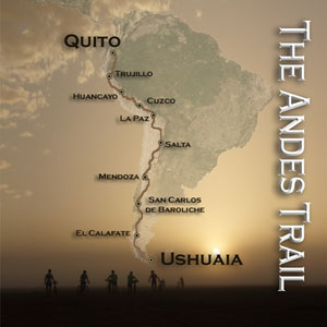 The route of the Bike Dreams Andes Trail Race