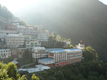 The Tibetan border town of Zhangbu