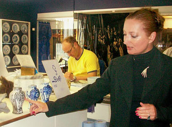 Our guide explained the traditional process of making Delft blue ceramics at De Porceleyne Fles, founded in 1653.