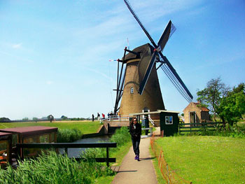 The 19 windmills from the 18th century in Kinderkijk, Holland are a UNESCO World Heritage Site. Photos by Melissa Adams