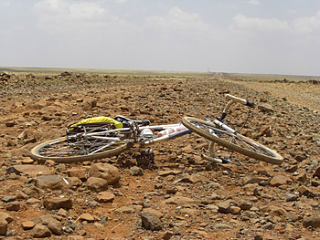 Rough roads of northern Kenya. Photo by Paul McManus.