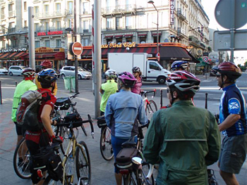 Orient Express riders checking out Paris before leaving for Istanbul. Photo by Jim Pearce.