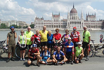 Oriental Express 2009 team in Budapest. Photo by Jim Pearce.