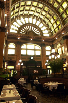 Inside the Gandy Dancer restaurant, Pittsburgh.