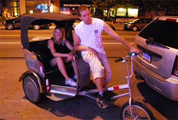 Green Gears Pedicabs offer rides throughout downtown Pittsburgh.