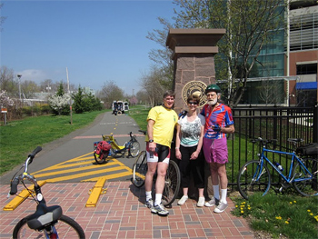 An entrance to the canalside trail. photo Mike Gallagher.