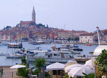 The harbor in Rovinj