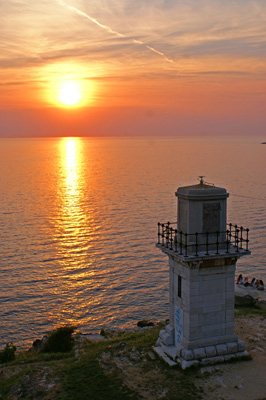 The lighthouse in Rovinj. Photos by Paul-Christian Markovski.