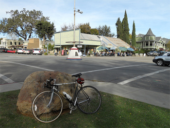 The quaint town of Los Olivos, a great place to stop for lunch on the ride.