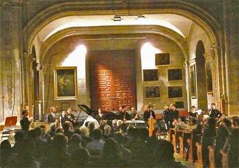 concert at the Cervantes Festival in Guanatuato, Mexico. photo by Dick Davis