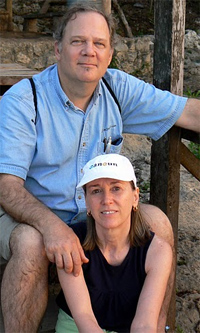 Max and Cindy in the Yucatan peninsula, Mexico.