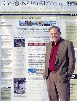 GoNOMAD Editor Max Hartshorne. The travel website has been publishing from South Deerfield Mass since 2000.