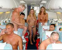 One new trend is nude airline travel. Photo courtesy of NakedAir.com