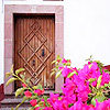 A door and flowers in Mexico