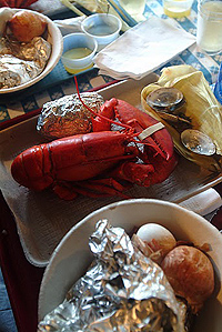 A Classic Maine Clambake, on Cabbage Island.