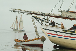 The Heritage's dingy, the way you get to shore.