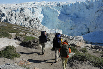 Hiking in West Greenland.