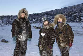 Inuits in West Greenland.