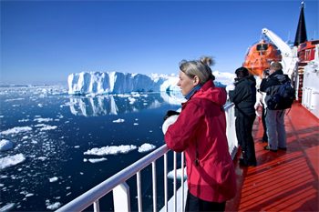 Aboard the MS Sarfaq Ittuk, cruising in West Greenland.