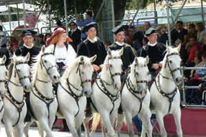 The Horsemen in the parade in Cagliari Sardinia.