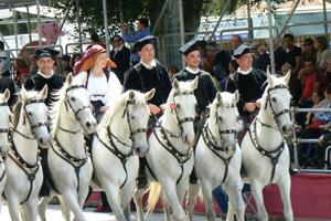The Horsemen in the parade in Cagliari Sardinia.