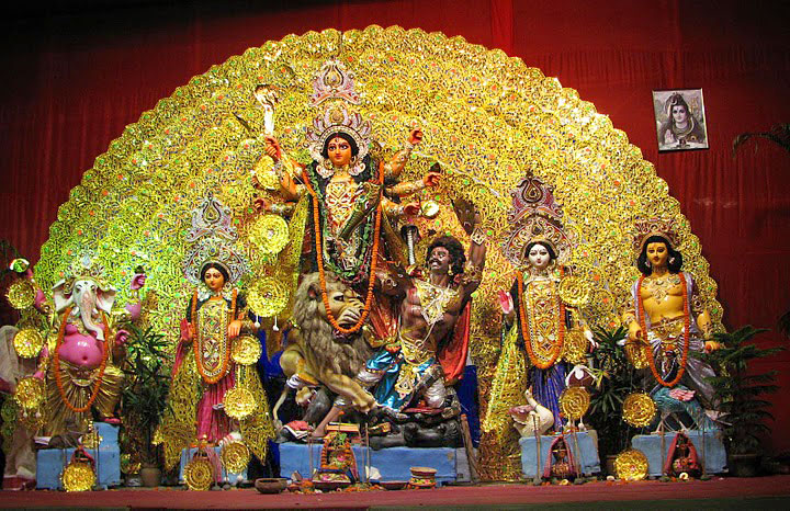 Durga Pujo Festival in Kolkata, India