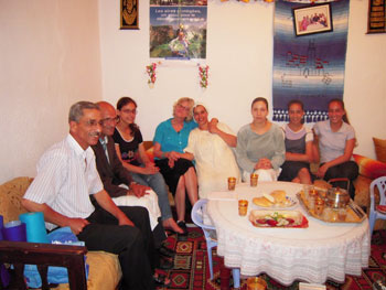 Visiting Ahmed and his family in Chefchouen, Morocco. Photo by Ann Banks