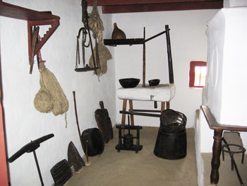 Traditional house interior at the Village Museum in Bucharest