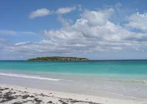 Blue Beach in Vieques, Puerto, Rico - photos by Michael Franco