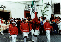 Marching band in town.