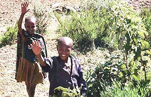 """The familiar cry """"you,you,you,you,"""" rings out each time you pass children in Ethiopia. Marie Javins photo."""