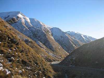 Crown Range Road. photo by Esther Pearson.