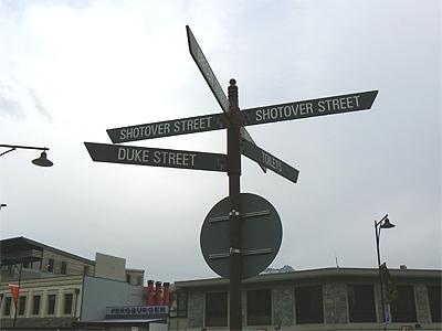 Signs in Queenstown.